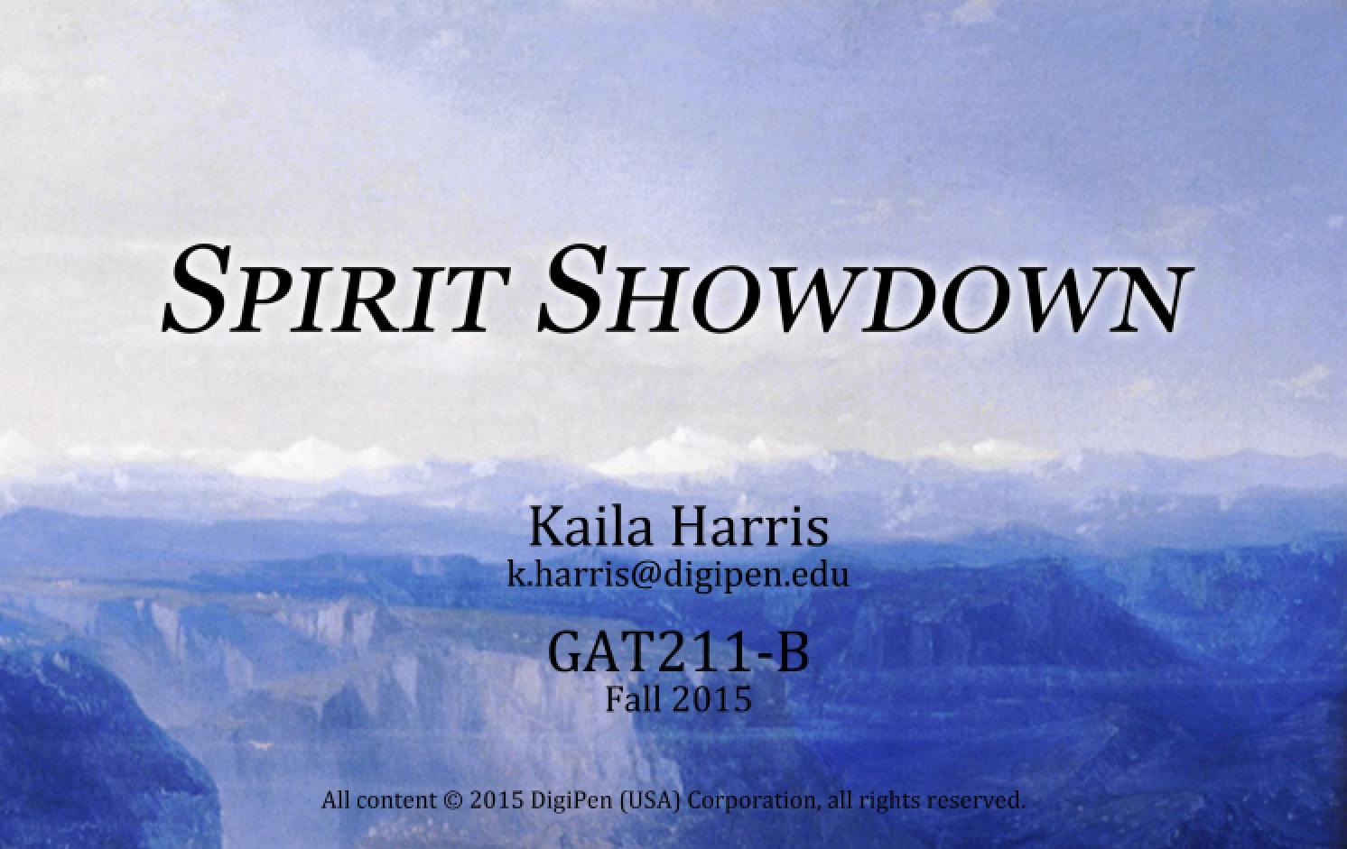Spirit Showdown
